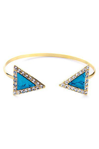 Vintage Rhinestone Triangle Cuff Bracelet For Women - GOLDEN