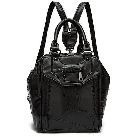Leisure Stitching and Black Design Satchel For Women