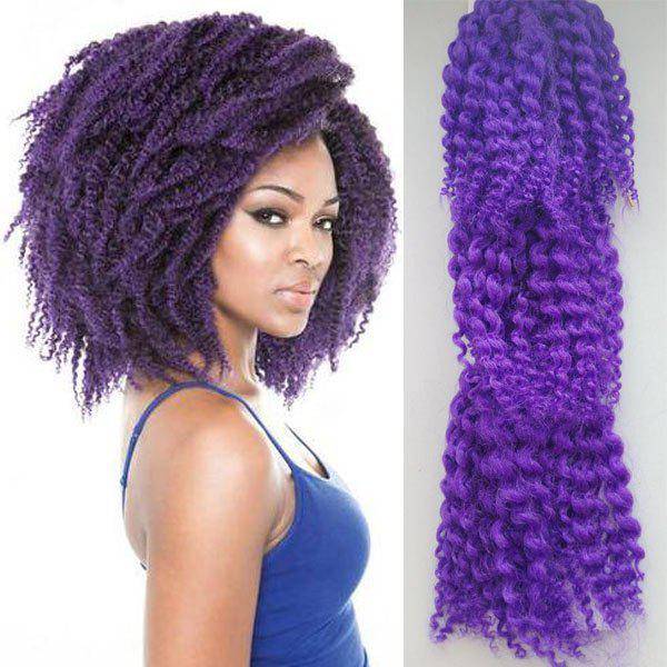 3PCS Shaggy Afro Curly Stunning Short Heat Resistant Fiber Braiding Hair Extension For Women -  PURPLE