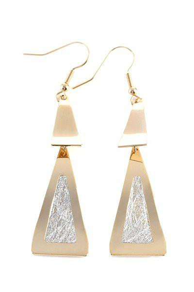 Pair of Stylish Triangle Earrings For Women - GOLDEN