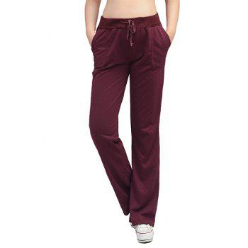 Sporty Women's High-Waisted Loose-Fitting Solid Color Pants