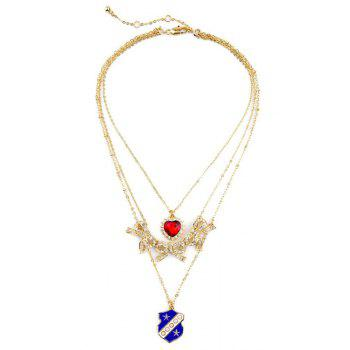Chic Multi-Layered Bowknot Heart Necklace For Women