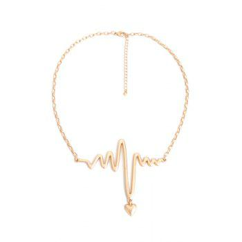 Heart Electrocardiogram Shape Necklace