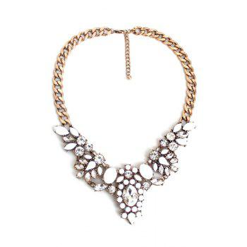 Floral Faux Crystal Necklace