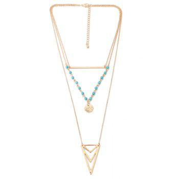 Ethnic Triangle Multi-Layered Necklace