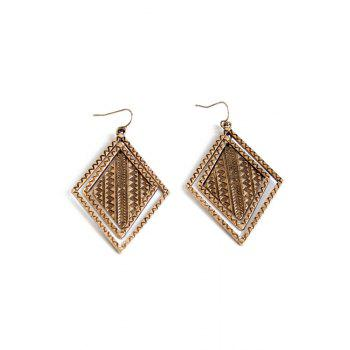 Pair of Vintage Alloy Carving Earrings For Women