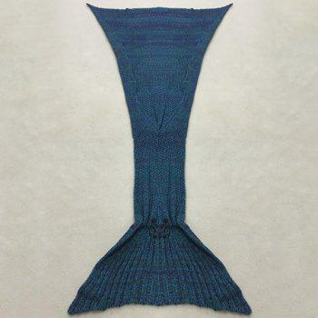 Stylish Artist Playfully Redesigns Cozy Blankets As Crocheted Mermaid Tails - BLUE BLUE