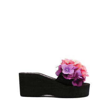 Sweet Flowers and Platform Design Slippers For Women