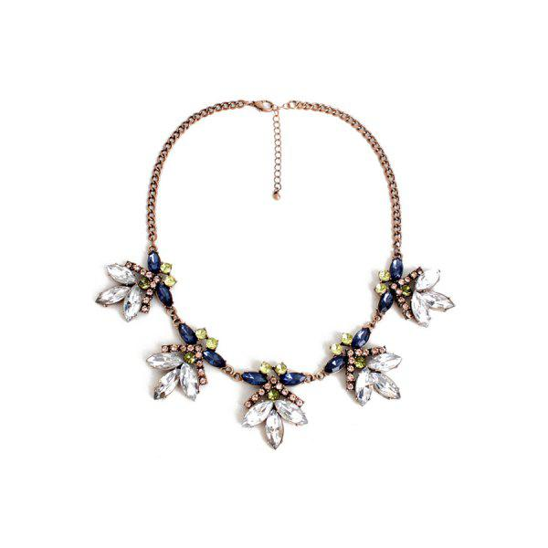 Gorgeous Floral Faux Crystal Necklace For Women