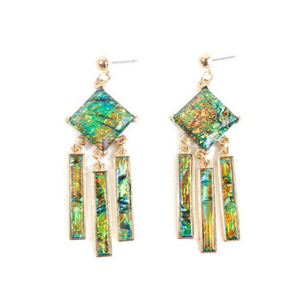 Pair of Stylish Resin Geometric Earrings For Women