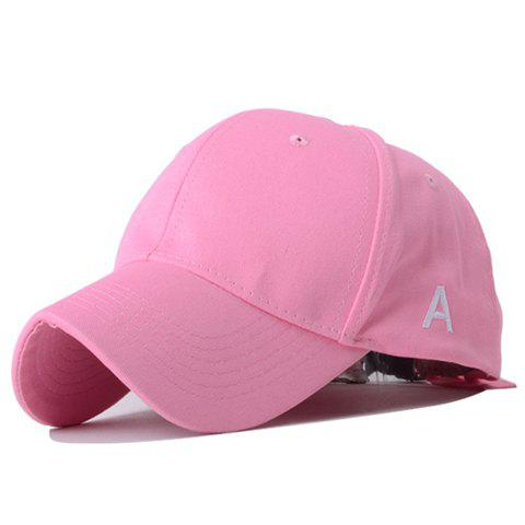 Simple Outdoor Letters Embroidery Sun Block Baseball Hat For Women [flb] new cotton cap baseball caps outdoor sport hat snapback hat for men casquette women leisure wholesale fashion accessories