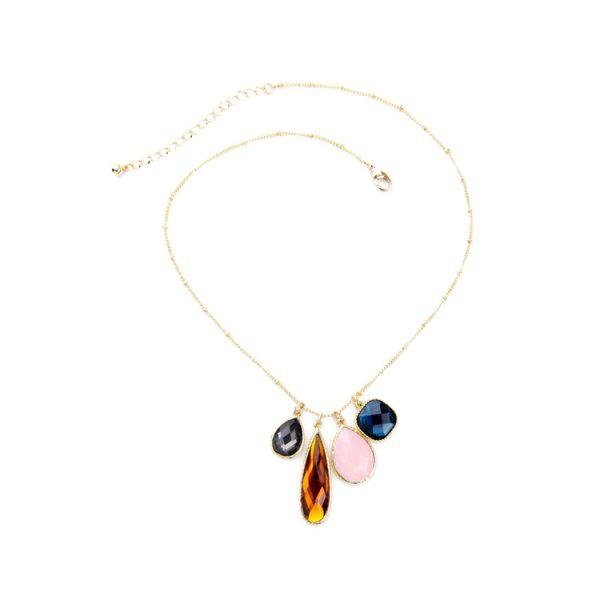 Chic Faux Gem Decorated Pendant Necklace For Women
