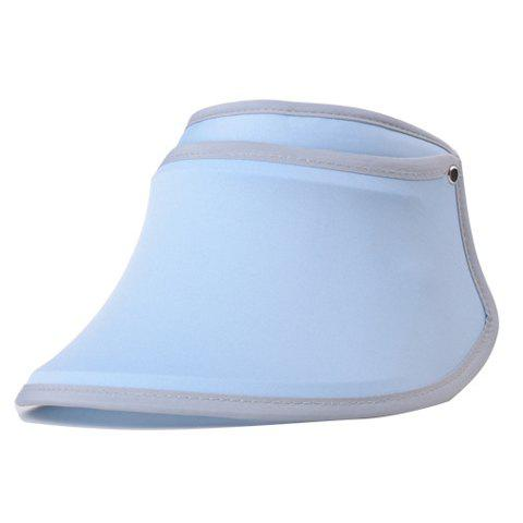Simple UV Proof Candy Color Beach Sun Hat Visors - LIGHT BLUE