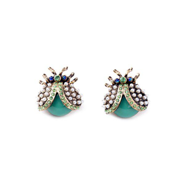 Pair of Adorable Rhinestone Ladybug Earrings For Women -  COLORMIX