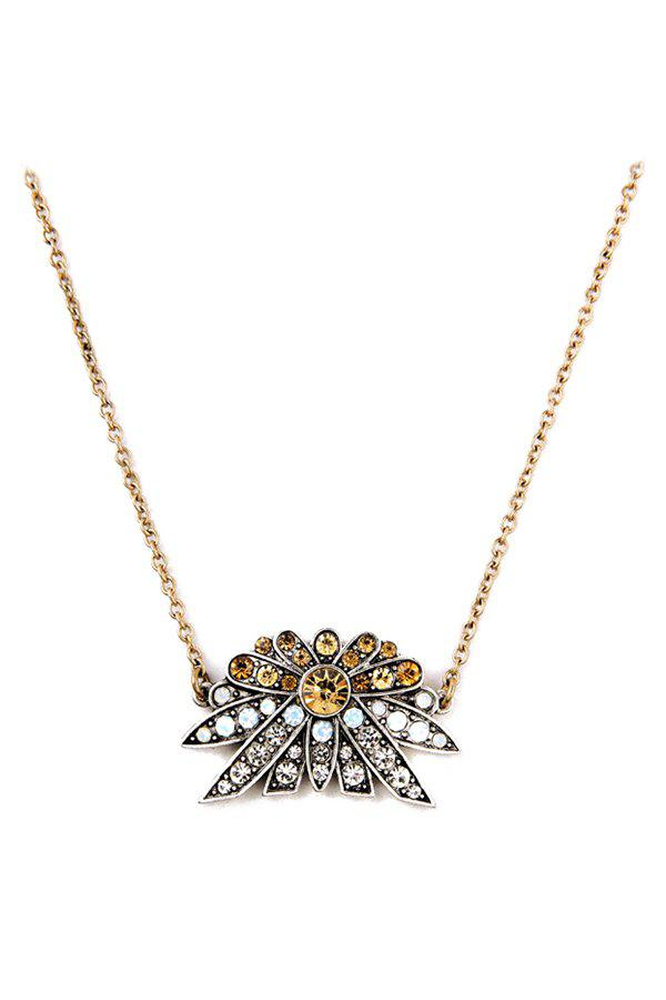 Gorgeous Rhinestoned Floral Necklace For Women