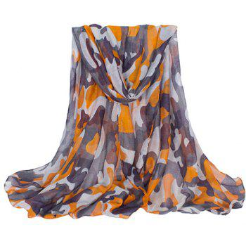 Chic Hemming Camouflage Printing Voile Scarf For Women