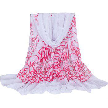 Chic Hemming Floral Printing Voile Scarf For Women