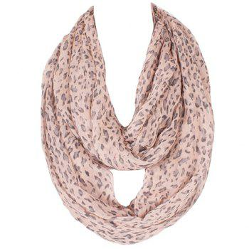Chic Hemming Leopard Printing Voile Bib Scarf For Women