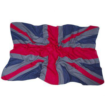 Chic Hemming Union Jack Printing Voile Scarf For Women - RED