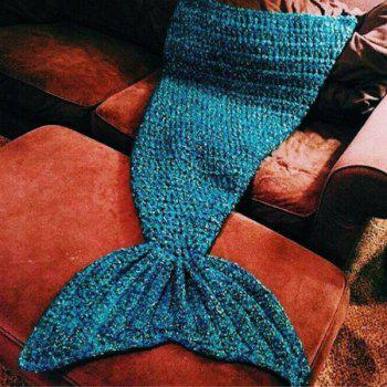 Stylish Artist Playfully Redesigns Cozy Blankets As Crocheted Mermaid Tails - W15.75INCH*L35.43INCH W15.75INCH*L35.43INCH
