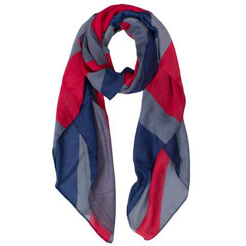 Chic Hemming Union Jack Printing Voile Scarf For Women