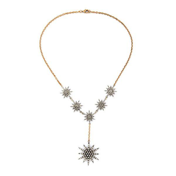 Charming Rhinestone Star Necklace For Women