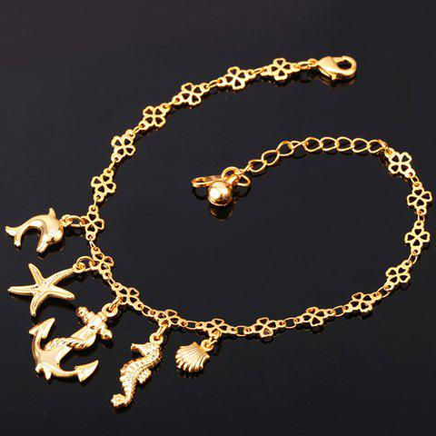 Graceful Solid Color Sea Star Anchor Anklet For Women