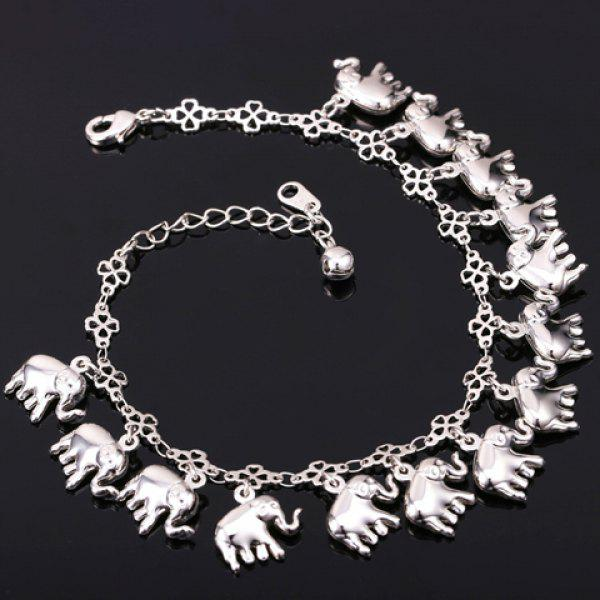 Cute Solid Color Elephant Anklet For Women