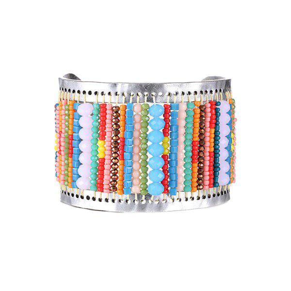 Stylish Colorful Bead Cuff Bracelet For Women