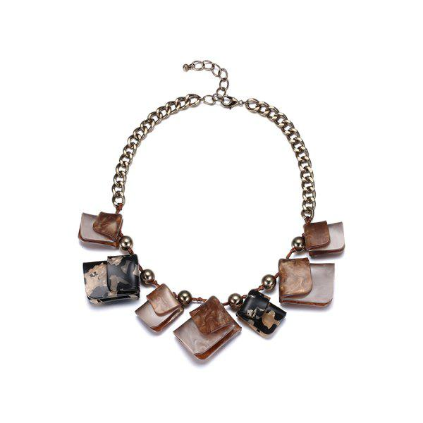 Punk Geometric Acrylic NecklaceJewelry<br><br><br>Color: COFFEE
