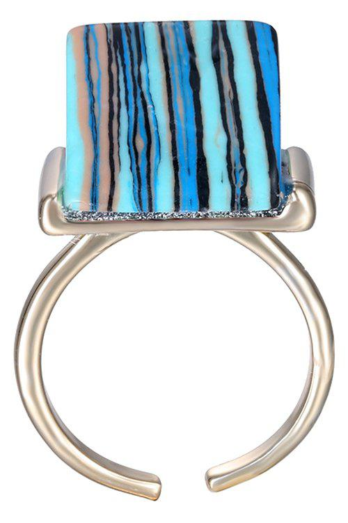 Chic Alloy Blue Turquoise Decorated Ring For Women - BLUE ONE-SIZE