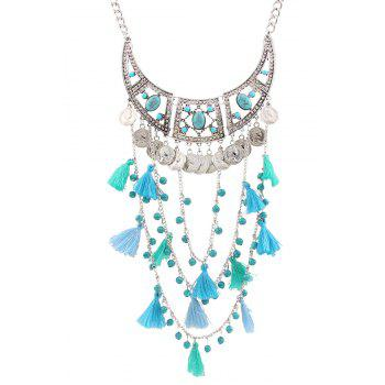 Stylish Bohemia Coin Tassel Multi-Layered Necklace For Women