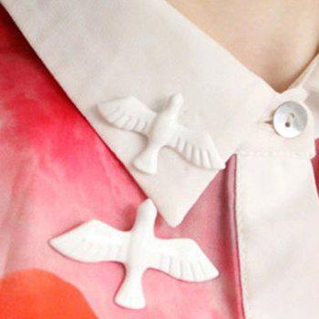 Stylish Fresh Style White Dove Brooch For Women