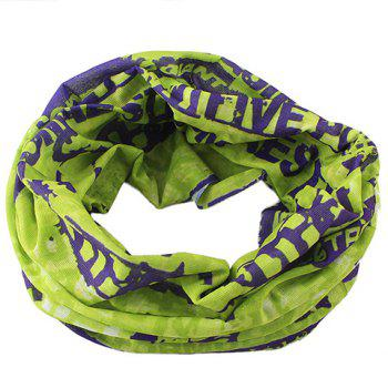 Stylish Letters Pattern Men's Scarf