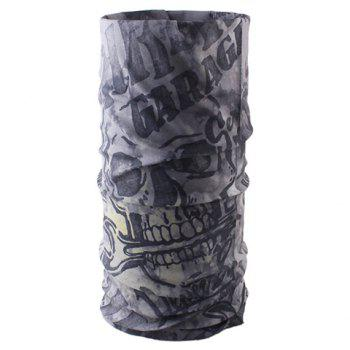Stylish Letter and Skull Pattern Men's Scarf -  GRAY