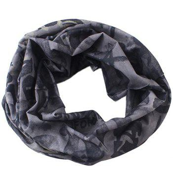 Stylish Letter and Skull Pattern Men's Scarf - GRAY GRAY
