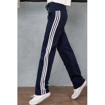 Casual Drawstring Loose-Fitting Striped Women's Pants