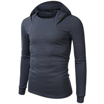 Simple Hooded Solid Color Long Sleeve Men's Hoodie