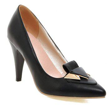 Fashionable Stiletto Heel and Metal Design Women's Pumps - BLACK 39