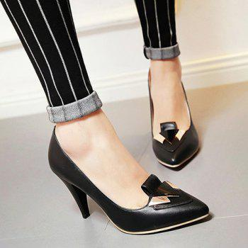 Fashionable Stiletto Heel and Metal Design Women's Pumps - 39 39