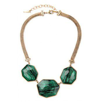 Delicate Faux Crystal Geometric Necklace For Women