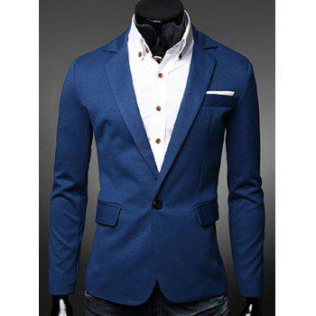 Modish Turn-Down Collar Color Block Splicing Long Sleeve Men's Blazer