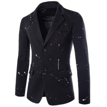 Splatter Paint Design Flap Pocket Blazer