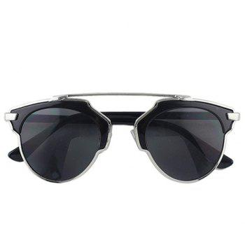 Buy Chic Metal Bar Embellished Black Match Women's Sunglasses SILVER