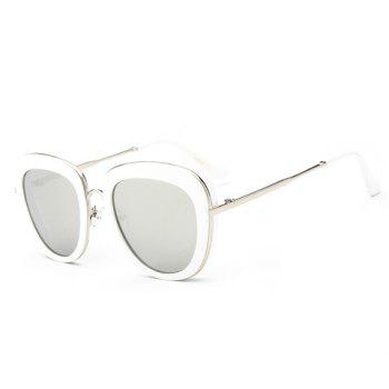Chic Gold Metal Inlay Transparent Frame Women's Sunglasses