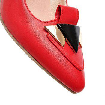 Fashionable Stiletto Heel and Metal Design Women's Pumps - RED 35