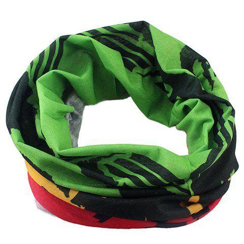 Stylish Man Pattern Color Block Men's Scarf - GREEN