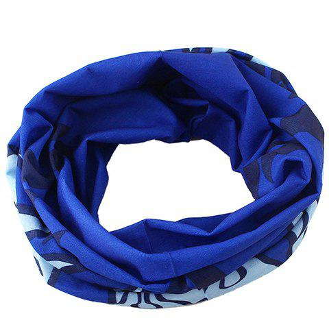 Stylish Flame Pattern Men's Blue Scarf - BLUE