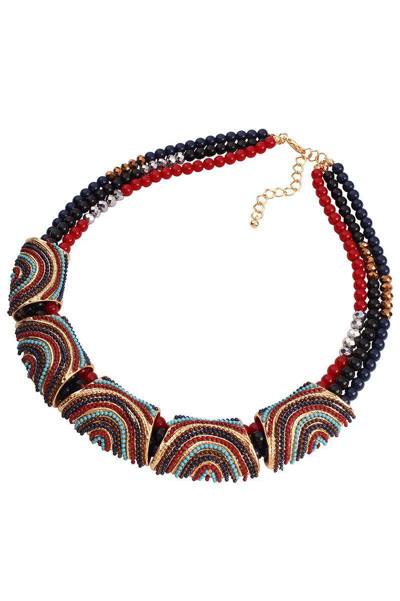 Stylish Bohemia Resin Bead Necklace For Women - COLORMIX