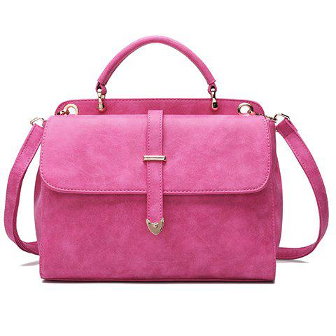 Fashionable Metal and Canday Color Design Tote Bag For Women -  ROSE